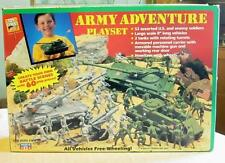 Vintage   U.S Army Battle  Military Plastic Toy Play Set Tanks Soldiers  New