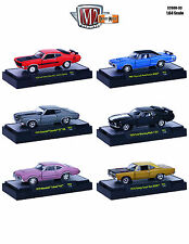 DETROIT MUSCLE 6 CARS SET RELEASE 33 W/CASES 1/64 M2 MACHINES 32600-33