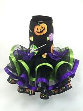 Pet Dog Dress Pumpkin Halloween candy Trick or Treat Tutu xxs xs small med