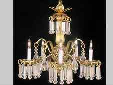 "Dollhouse Miniature Lighting Electrical CHANDELIER ""VICTORIA"""