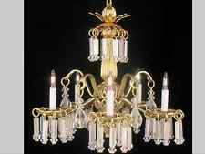 "Dollhouse Miniature Electrical Lighting Fixture - ""Victoria"" Chandelier"