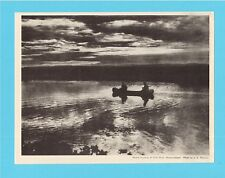 Moose Hunting at Gills Point -  Vintage Newfoundland Print 1920s - 1930s