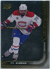 2015-16 UPPER DECK SERIES 1 SHINING STARS DEFENSE P.K. SUBBAN #SS9 RARE!