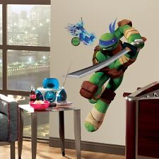 New Giant LEONARDO WALL DECALS Teenage Mutant Ninja Turtles Stickers Kids Mural