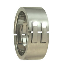 New 8mm Wide Men's Designer Titanium Band Ring Mens Jewellery UK Size S