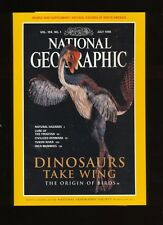 National Geographic July 1998 Dinosaurs take Wing Frogfish With Supplement
