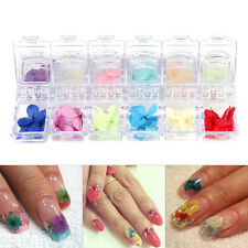 Fashion Women 3D Dry Dried Flower Nail Art Tips Sticker Manicure Decoration Tool