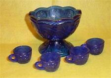 Cobalt Blue Childs  Punch Bowl Set
