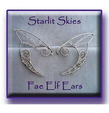 Wire Elf Ears in Sterling Silver Filled and Swarovski Crystals