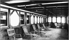 Photo: RMS Titanic: Only Known Genuine View Of The Parlor Suite Promenade
