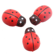 1000pcs Red Cute Ladybird Wood Embellishments Fit Jewelry Crafts Scrapbooking BS