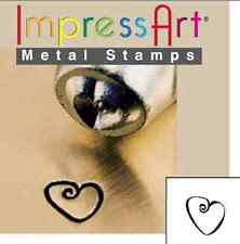 Metal stamp, punch, fat heart - 3 mm