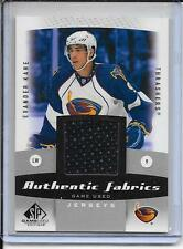 10-11 SP Game Used Evander Kane Authentic Fabrics Jersey