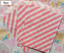 25 Favor Food Oil Paper Party Bags Diagonal Striped Craft Bag For Party Color 3