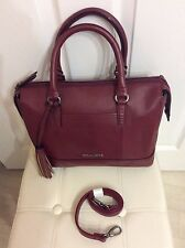 Tignanello Handbags:Soft Glove Leather Hand /Shoulder Bag in Ox Blood: Brand New