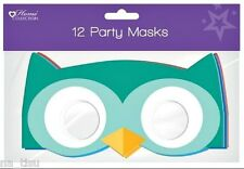 12 MASKS OWLs animals kids paper Party birthday bag toy costume fancy dress