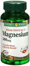 Nature's Bounty Magnesium 500 mg Tablets 100 Tablets