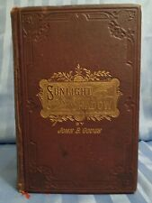1881 Rare Sunlight and Shadow Victorian Temperance Christian Antique Book