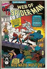Marvel Comics Web Of Spiderman #72 January 1991 Silver Sable F+