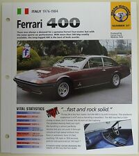 FERRARI 400 IMP COLLECTOR BROCHURE SPECS 1976-1984 GROUP 2, NO 37
