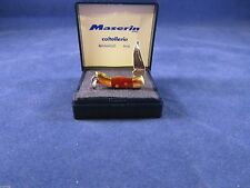 Maserin Miniature Genuine Rosewood Mini Lockback Knife Mint In Case 705LG