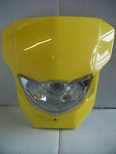 YELLOW ENDURO MOTOCROSS STREETFIGHTER HEADLIGHT ALIEN SUZUKI LTZ RM RMZ DR DRZ