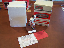 BROWNS JIM BROWN AUTOGRAPH SIGNATURE FIGURINE  IN ACTION  VERY RARE