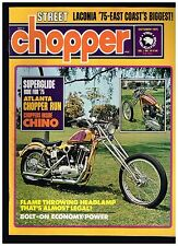 STREET CHOPPER OCTOBER 1975 CONTENT 70's BAY AREA DIGGER STYLE CUSTOM CHOPPERS