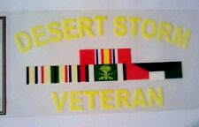 Desert Storm Veteran Decal  5""