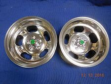 JUST POLISHED 15x8.5 SLOT MAG WHEELS FORD DODGE MAGS MOPAR PLYMOUTH MUSTANG CUDA