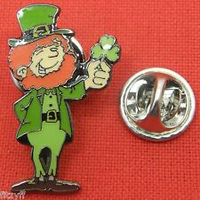 Irish Leprechaun Lapel Hat Tie Pin Badge Shamrock Brooch Eire St Patricks Day