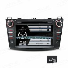 "For Mazda3 2010-2013 8"" 2 DIN Stereo Car DVD CD Player GPS Navigation Bluetooth"