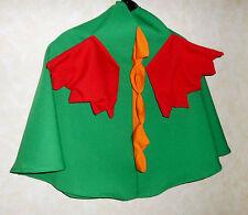 Umhang grüner DRACHE mit roten Flügeln Drachenumhang Cape Kostüm Fasching Flügel
