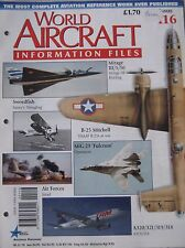 World Aircraft Information Files Issue 116 Dassault Mirage cutaway & poster
