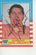 ANDRE THE GIANT SIGNED 1987 WWE TOPPS #2 = VERY RARE