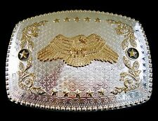 BALD EAGLES WINGS STARS USA WESTERN BELT BUCKLE BOUCLE DE CEINTURE