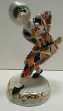 Vintage Capodimonte Harlequin Porcelain Figurine Limited Edition Italy 1984