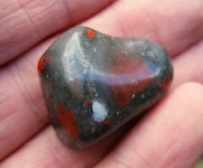 1 BLOODSTONE SEFTONITE XL CRYSTAL TUMBLESTONE POLISHED 27mm - 30mm BAG & ID CARD
