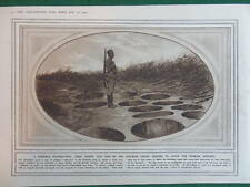 1914 AUSTRIAN STAKE PITS; BELGIAN TRENCHES DIXMUDE WW1 (1 SHEET, BOTH SIDES)