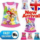 Girls Disney Frozen Princess Elsa Anna Olaf Nightie Dress Nightwear Party PJs 10