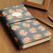 """Sacred Flower"" Girl's Diary Vintage Planner Travel Journal Notebook Pocket Memo"
