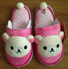 NWT Rilakkuma Slippers Shoes Indoor Soft Plush UK SIZE 3-7, US 5-9, EU 34-40