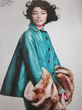 PRADA turquoise leather jacket NEW   SPECIAL ORDER  size 46 italian worn aspect