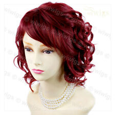 Awesome Lovely Summer Style Short Burgundy mix Red Skin Top Ladies Wig WIWIGS UK
