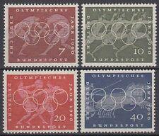 Germany federal BRD 1960 mié 332/35 ** los juegos olímpicos Olympic Games anillos Diskus