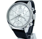 CALVIN KLEIN MEN WATCH SWISS MADE CHRONOGRAPH 43mm SOLID STEEL LEATHER K2H27120