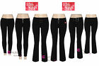 LADIES GIRLS MISS SEXY BLACK TROUSERS WOMENS STRETCH WORK SCHOOL UK SIZE 6-16