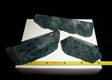DINO: 3 Superb Faced BLUE APATITE- Madagascar - 245 grams - Lapidary or Display