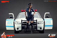 1/18 Police girl figurine VERY RARE !! for1:18 CMC Autoart Ferrari BBR Mercedes