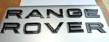 NEW BLACK RANGE ROVER CHROME EDGE 3D LETTERING BONNET TAILGATE BADGE LOGO